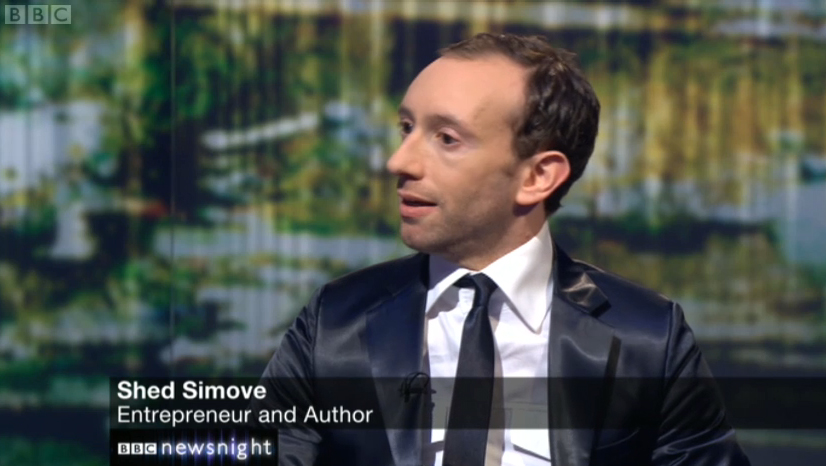 Shed Simove on Newsnight